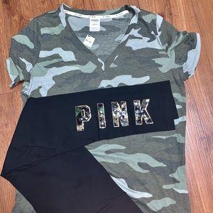 Victoria Secret Pink Camo Outfit